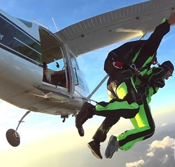 Skydiving over Zadar